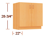 plastic laminate - sitting height base cabinets thumbnail
