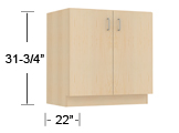 wood veneer - accessible ht base cabinets (ADA) thumbnail