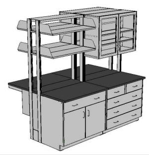 Flex Core Based Lab Furniture System