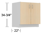 overlay steel - standing height base cabinets thumbnail