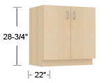 wood veneer - sitting height base cabinets thumbnail