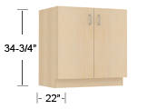 wood veneer - standing height base cabinets thumbnail