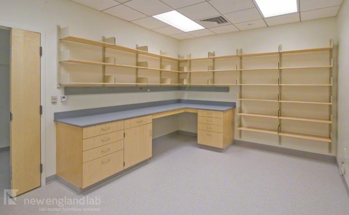 Adjustable Wall Shelving Lab Storage Amp Shelving New