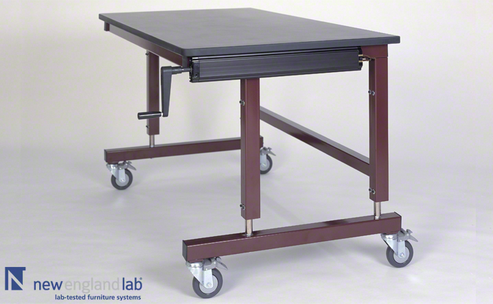 Hydraulic adjustable tables lab tables carriers new england lab twd hydraulic hand crank table 02 watchthetrailerfo